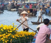 Float market in Mekong delta