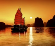 Sunset in Ha Long