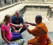 A blessing from a Monk
