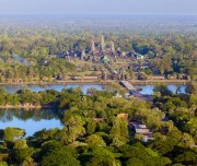 Aerial view of Angkor Wat from a helium balloon. Photo taken on: December 01st, 2011