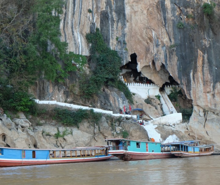 Nam Ou river with Pak Ou Caves