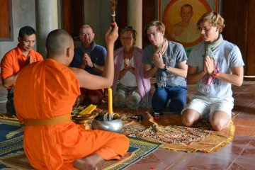 Siem Reap Monk Blessing