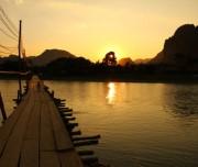 Sunset in Nam Ngum lake