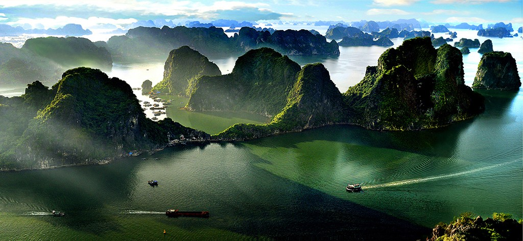 Halong Bay Viewed from Seaplane