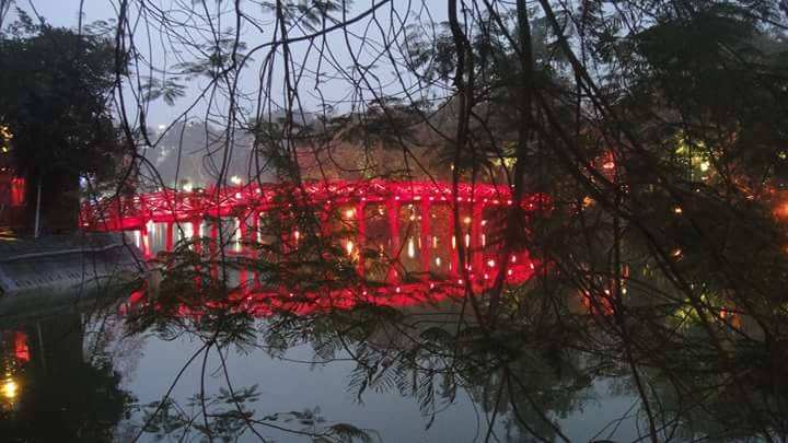 The Huc Bridge - Hanoi City Center